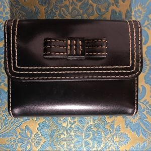 Buxton black leather card holder